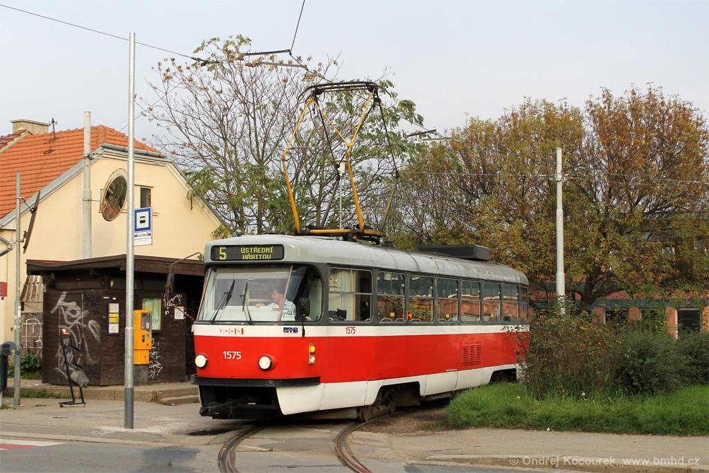 Fotogalerie » ČKD Tatra T3M 1575 | Brno | Černá Pole | Merhautova | Štefánikova čtvrť, smyčka