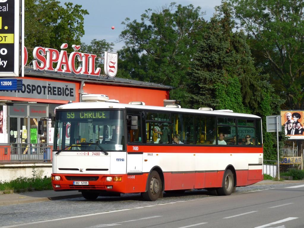 Fotogalerie » Karosa B951E.1713 3B2 5705 7480 | Brno | Brněnské Ivanovice | Kaštanová | Ráječek