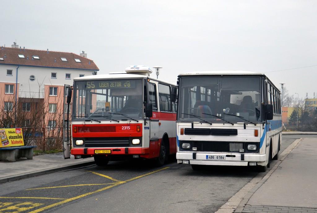 Fotogalerie » Karosa B741.1924 BSC 62-04 2315 | Karosa LC736.1014 4B6 6184 | Brno | Líšeň | Novolíšeňská | Jírova