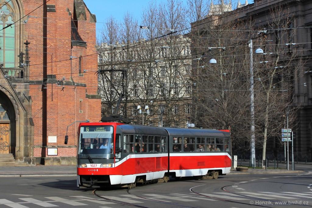 Fotogalerie » ČKD Tatra K2R03 1027   Brno   střed   Joštova