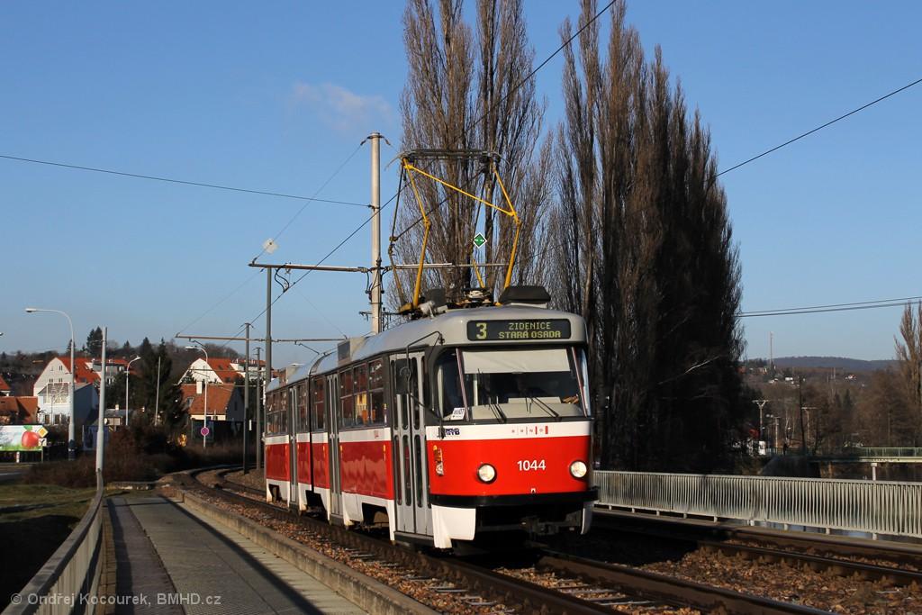 Fotogalerie » ČKD Tatra K2T 1044 | Brno | Bystrc | Kníničská