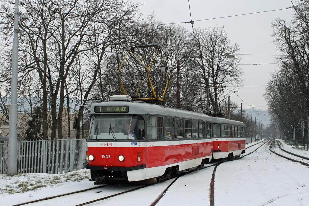 Fotogalerie » ČKD Tatra T3P 1543 | ČKD Tatra T3P 1587 | Brno | Pisárky | Hlinky