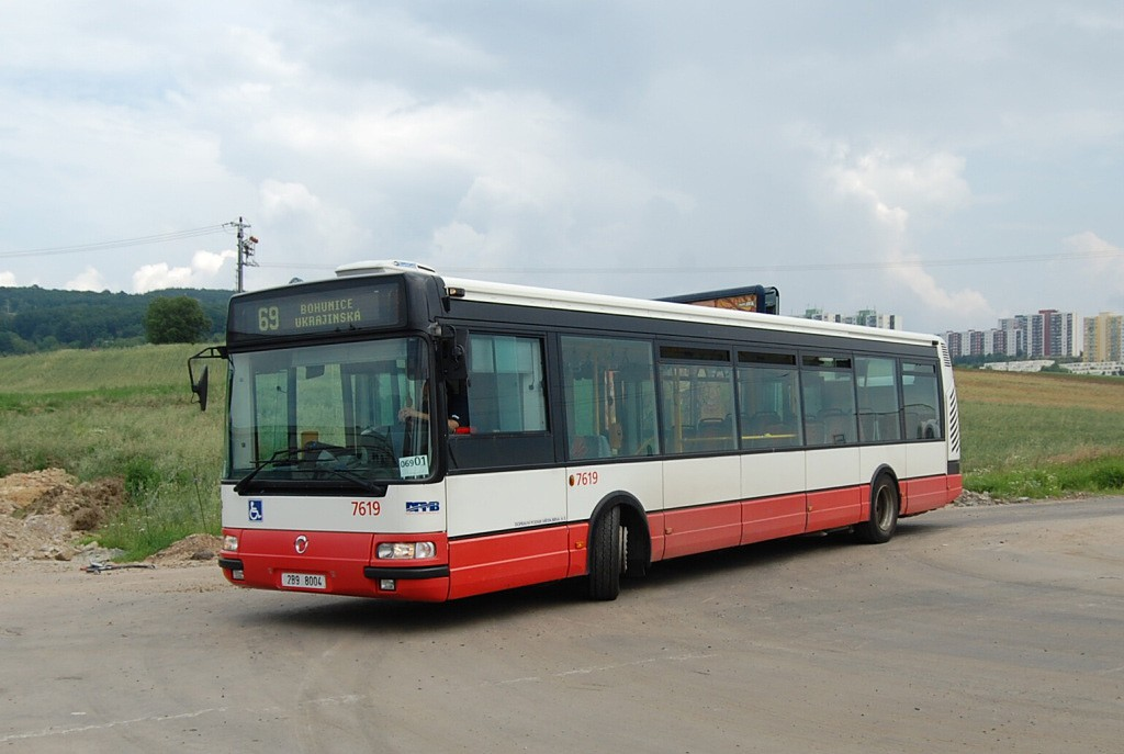 Fotogalerie » Irisbus Citybus 12M 2071.40 2B9 8004 7619 | Brno | Bosonohy | Pražská | Skalní