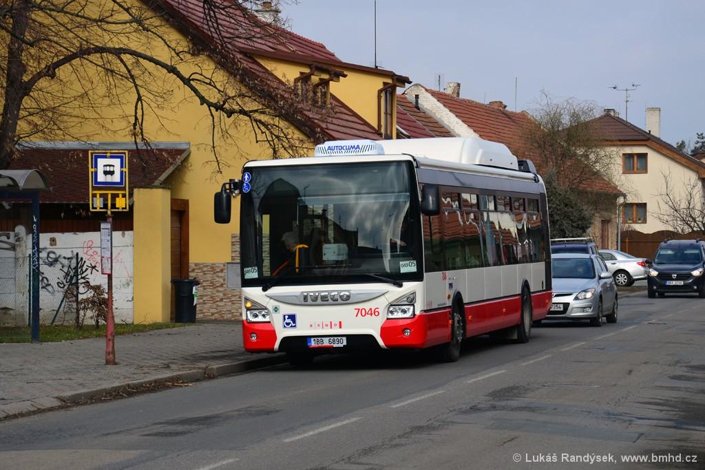 Fotogalerie » Iveco Urbanway 12M CNG 1BB 6890 7046 | Brno | Přízřenice | Zelná | Přízřenice