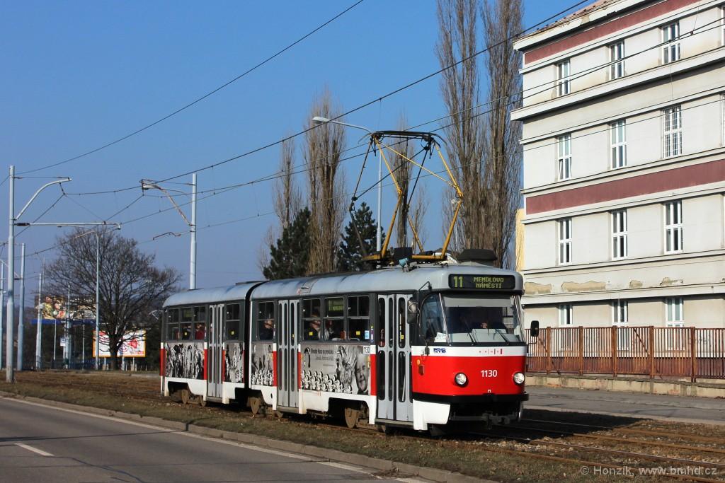 Fotogalerie » ČKD Tatra K2 1130 | Brno | Černá Pole | třída Generála Píky