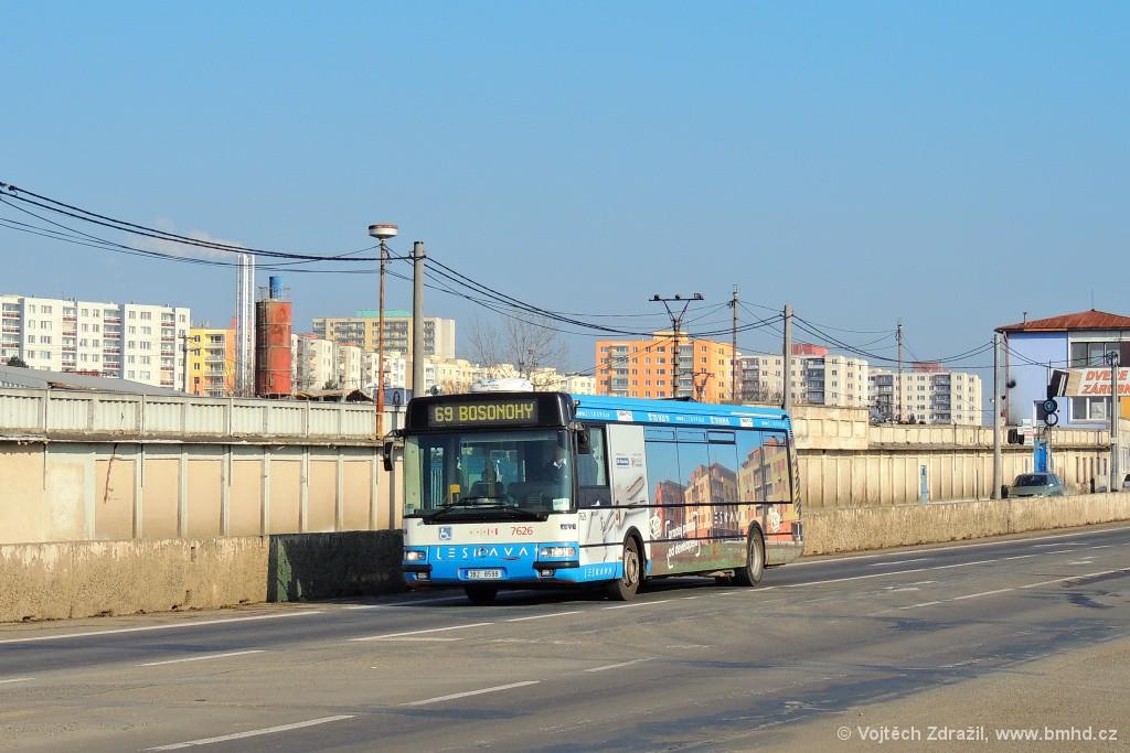 Fotogalerie » Irisbus Citybus 12M 2071.40 3B2 8598 7626 | Brno | Bosonohy | Jihlavská