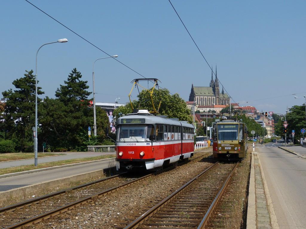 Fotogalerie » ČKD Tatra K2 1113 | Brno | Štýřice | Renneská třída