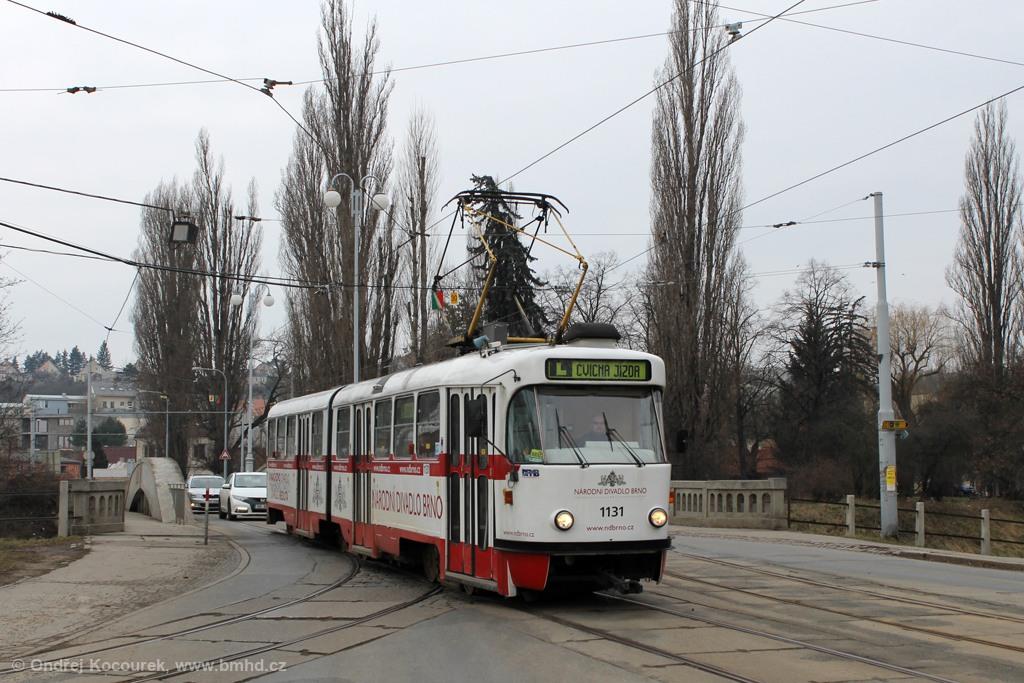 Fotogalerie » ČKD Tatra K2 1131 | Brno | Maloměřice | Dolnopolní