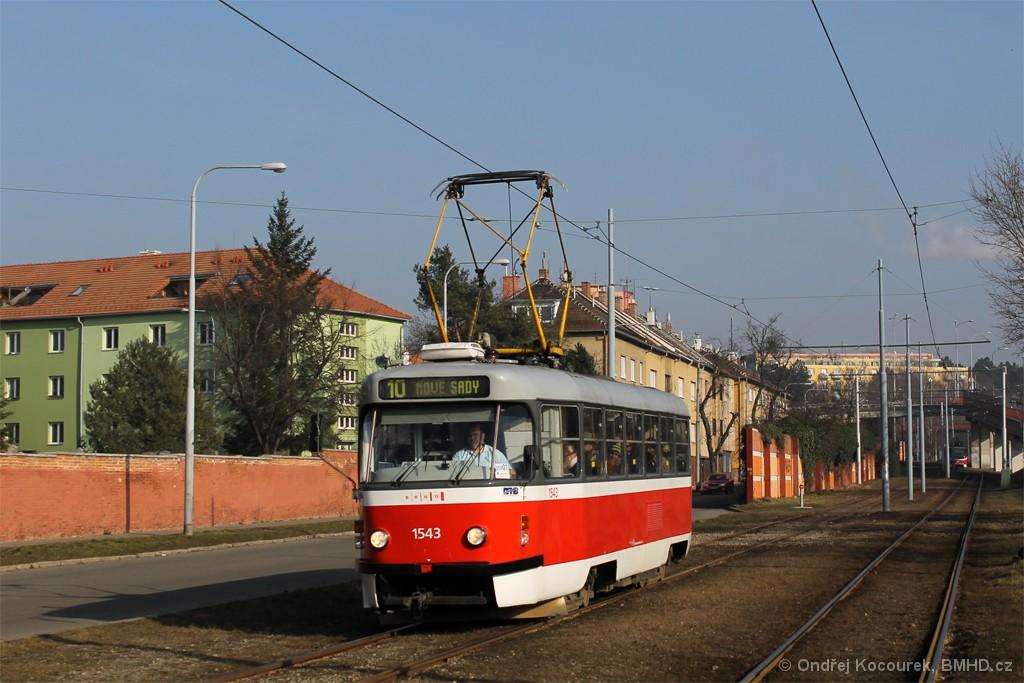Fotogalerie » ČKD Tatra T3P 1543 | Brno | Židenice | Nezamyslova