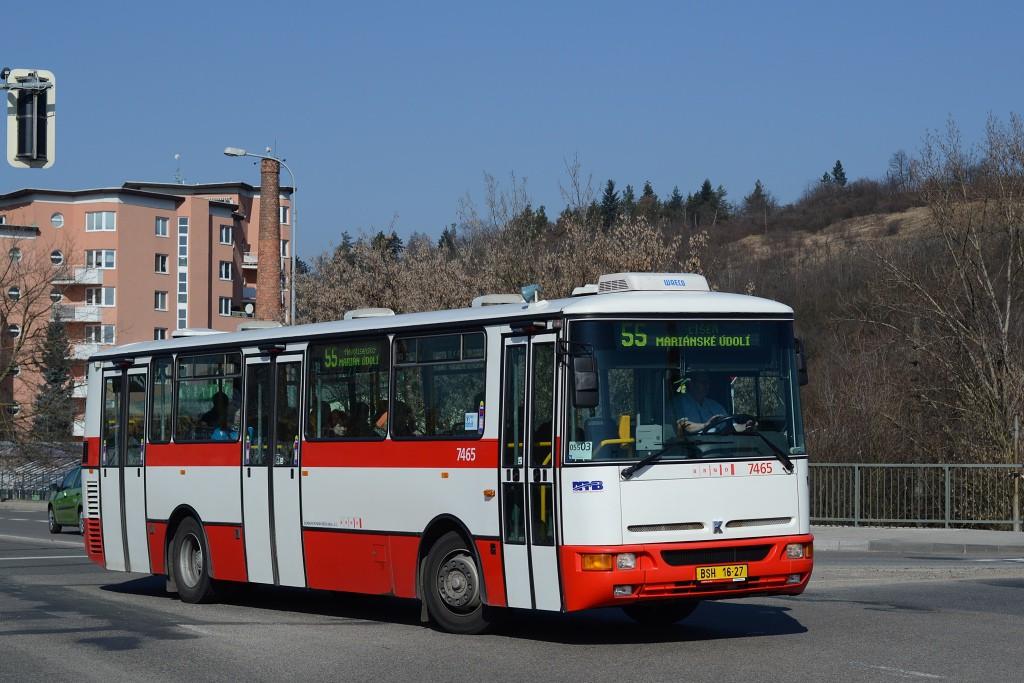Fotogalerie » Karosa B931E.1707 BSH 16-27 7465   Brno   Juliánov   Bělohorská   Bělohorská