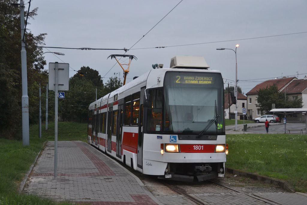 Fotogalerie » ČKD DS RT6N1 1801 | Modřice | Modřice, smyčka