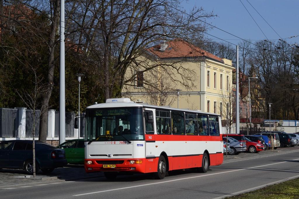 Fotogalerie » Karosa B931E.1707 BSH 14-57 7463   Brno   Pisárky   Hlinky