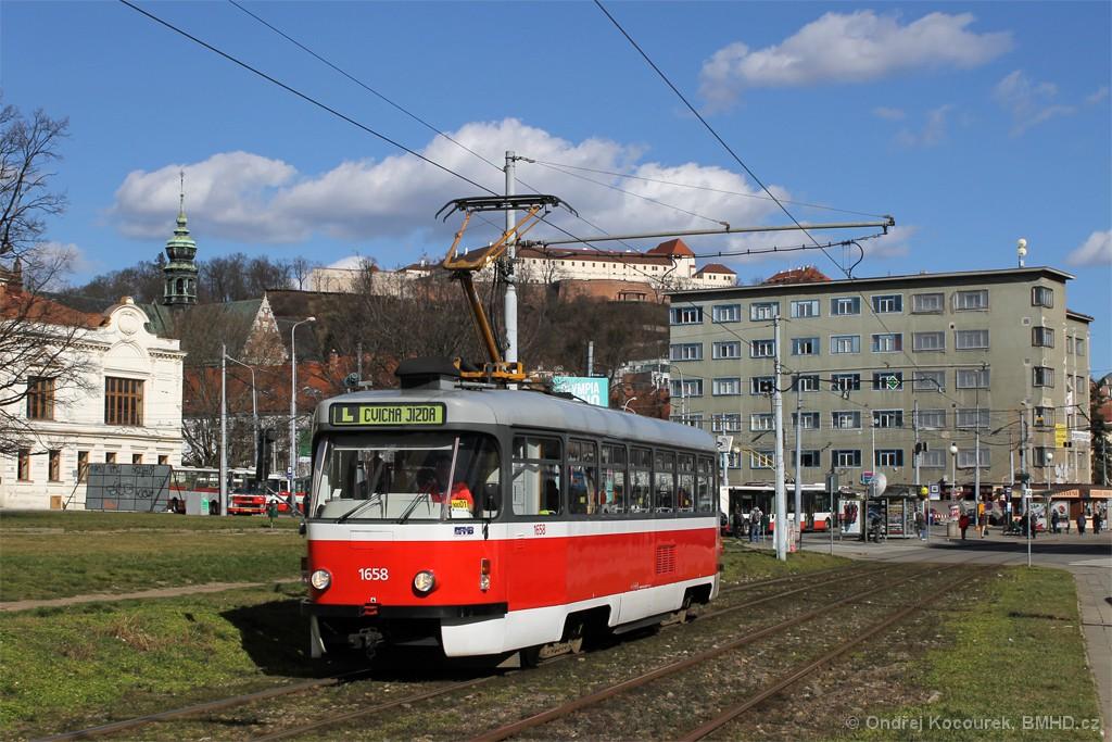 Fotogalerie » Pragoimex T3R.PV 1658 | Brno | Staré Brno | Veletržní