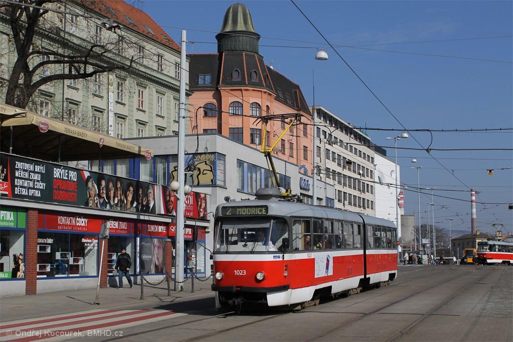 Fotogalerie » ČKD Tatra K2P 1023 | Brno | střed | Nádražní