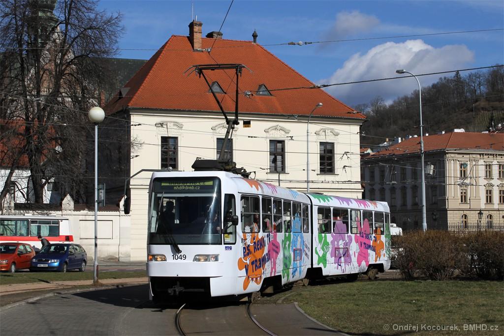 Fotogalerie » ČKD Tatra K2R03-P 1049 | Brno | Staré Brno | Mendlovo náměstí | Mendlovo náměstí, smyčka
