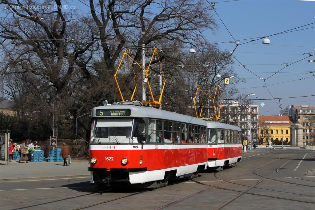 Fotogalerie » ČKD Tatra T3P 1622 | ČKD Tatra T3P 1623 | Brno | střed | Moravské náměstí