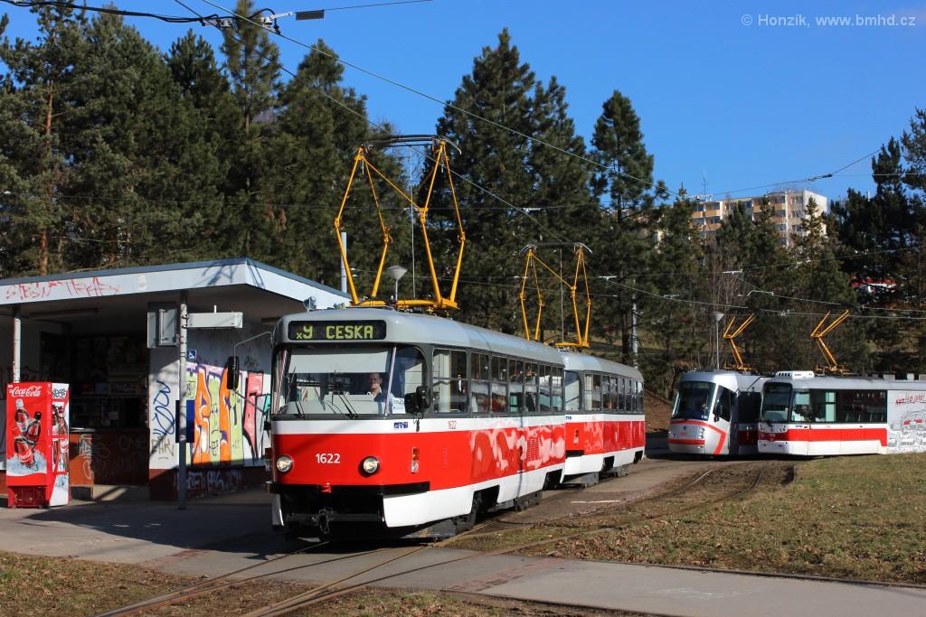 Fotogalerie » ČKD Tatra T3P 1622 | ČKD Tatra T3P 1623 | Brno | Lesná | Lesná, Čertova rokle