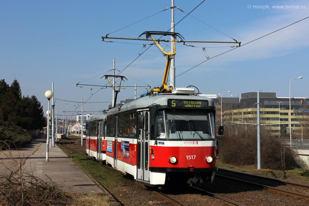 Fotogalerie » Pragoimex T3R.PV 1517 | Pragoimex T3R.PV 1558 | Brno | Štýřice | Vídeňská
