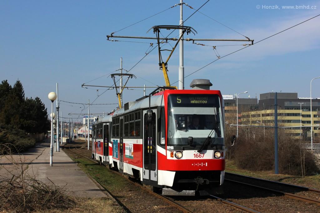 Fotogalerie » ČKD DS T3R 1667 | ČKD DS T3R 1668 | Brno | Štýřice | Vídeňská