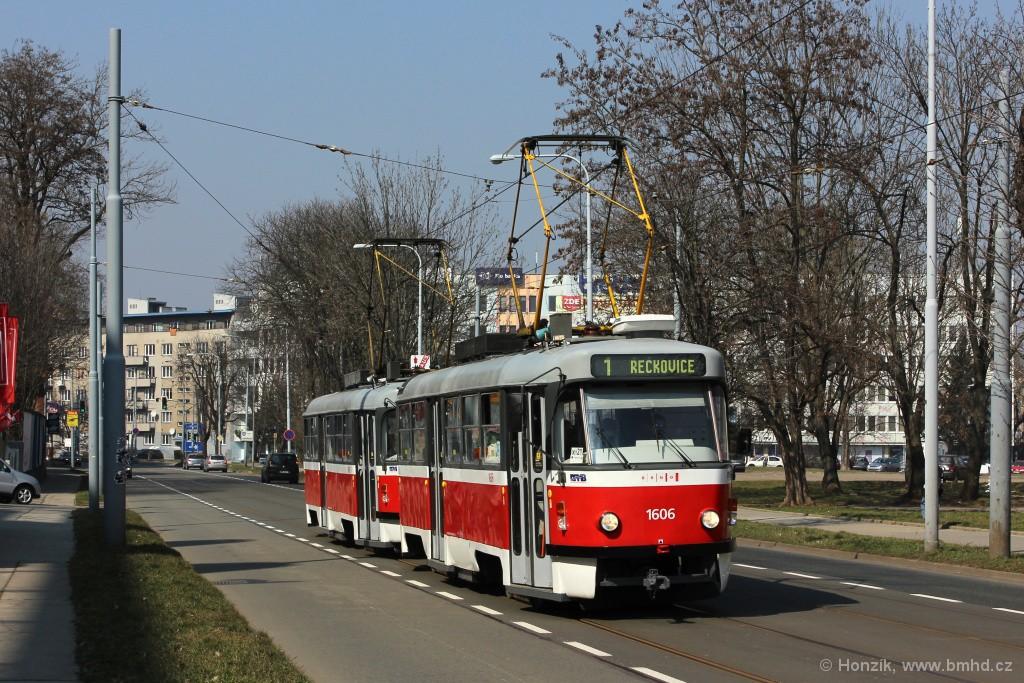 Fotogalerie » ČKD Tatra T3G 1606 | ČKD Tatra T3G 1608 | Brno | střed | Veveří
