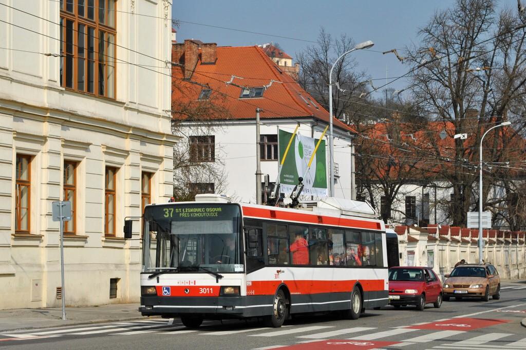 Fotogalerie » Škoda 21Tr 3011 | Brno | Staré Brno | Mendlovo náměstí