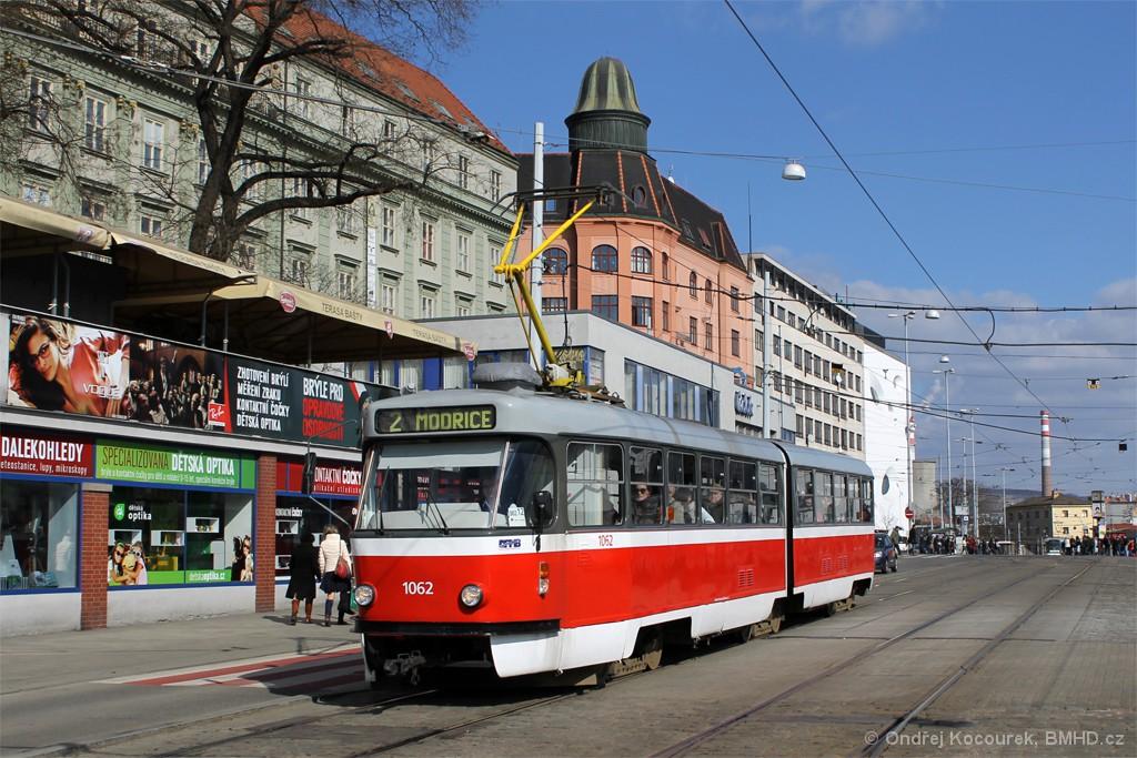 Fotogalerie » ČKD Tatra K2P 1062 | Brno | střed | Nádražní