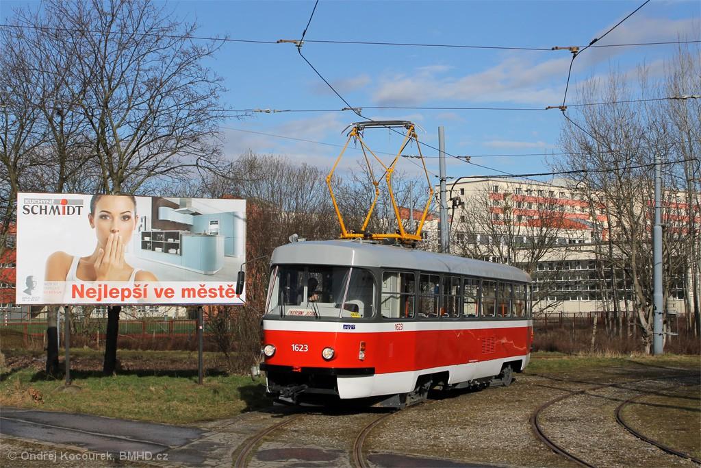 Fotogalerie » ČKD Tatra T3P 1623 | Brno | Komín | Kníničská