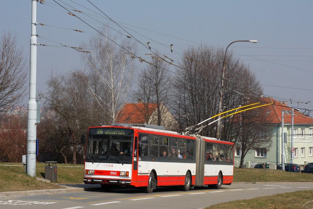 Fotogalerie » Škoda 15TrM 3502 | Brno | Nový Lískovec | Petra Křivky | Čtvrtě