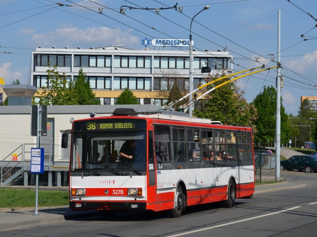 Fotogalerie » Škoda 14Tr17/6M 3278 | Brno | Žabovřesky | Přívrat | Přívrat