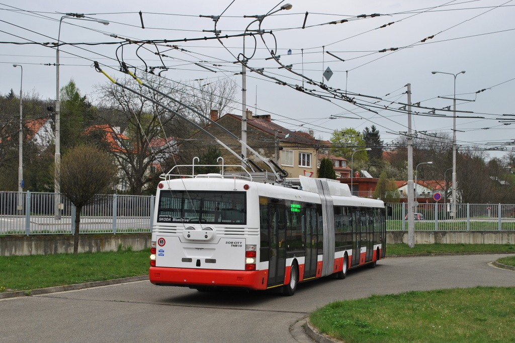 Fotogalerie » Škoda 31Tr 3618 | Brno | Komín | vozovna Komín
