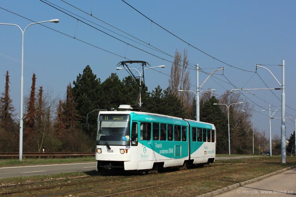 Fotogalerie » ČKD Tatra K2R 1028 | Brno | Černá Pole | třída Generála Píky