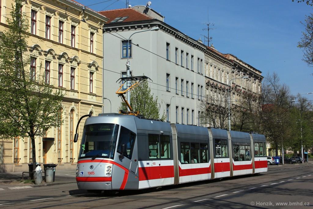 Fotogalerie » Škoda 13T1 1905 | Brno | Ponava | Štefánikova