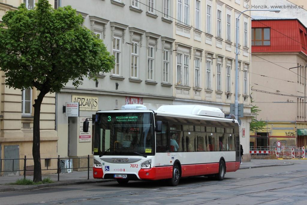 Fotogalerie » Iveco Urbanway 12M CNG 1BC 1578 7072 | Brno | Veveří | Veveří