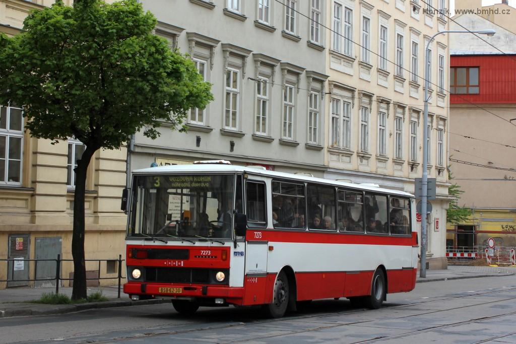 Fotogalerie » Karosa B732.40 BSB 62-30 7273 | Brno | Veveří | Veveří