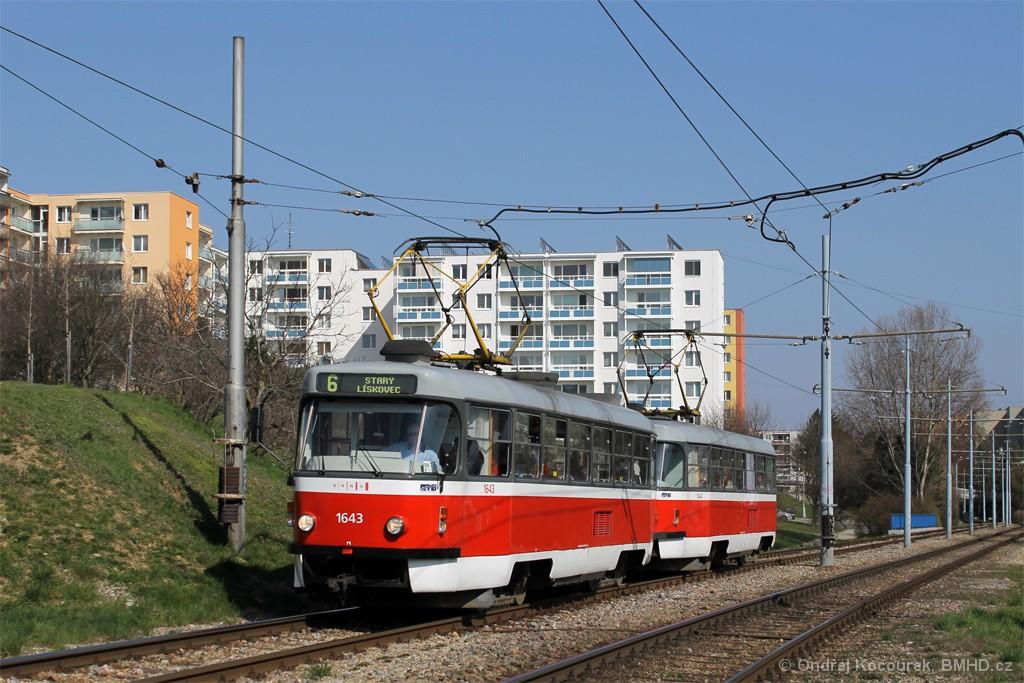 Fotogalerie » ČKD Tatra T3G 1643 | ČKD Tatra T3G 1644 | Brno | Bohunice