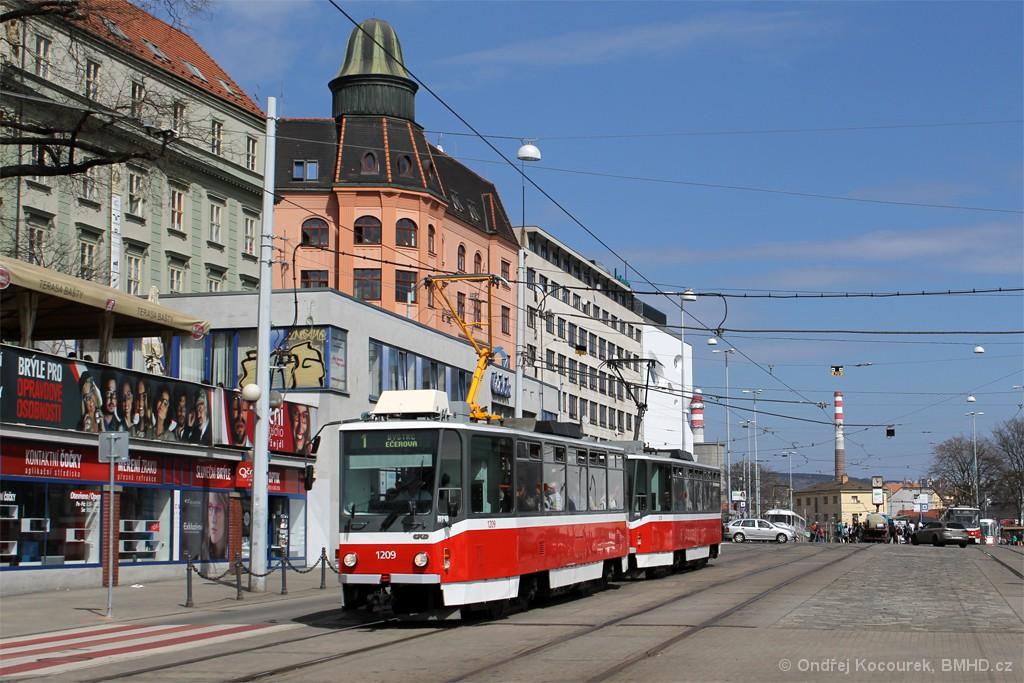 Fotogalerie » ČKD DS T6A5 1209 | ČKD DS T6A5 1210 | Brno | střed | Nádražní
