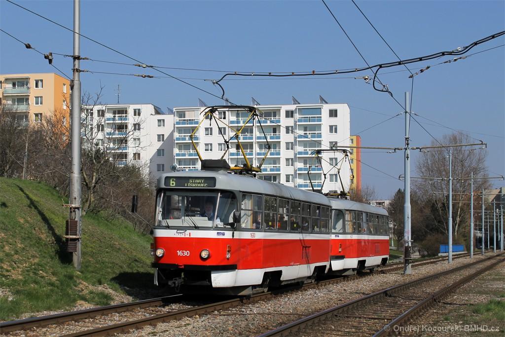 Fotogalerie » ČKD Tatra T3T 1630 | ČKD Tatra T3T 1627 | Brno | Bohunice