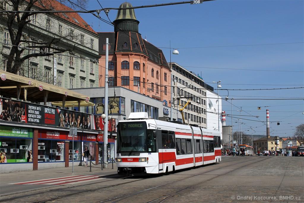 Fotogalerie » ČKD DS RT6N1 1802 | Brno | střed | Nádražní