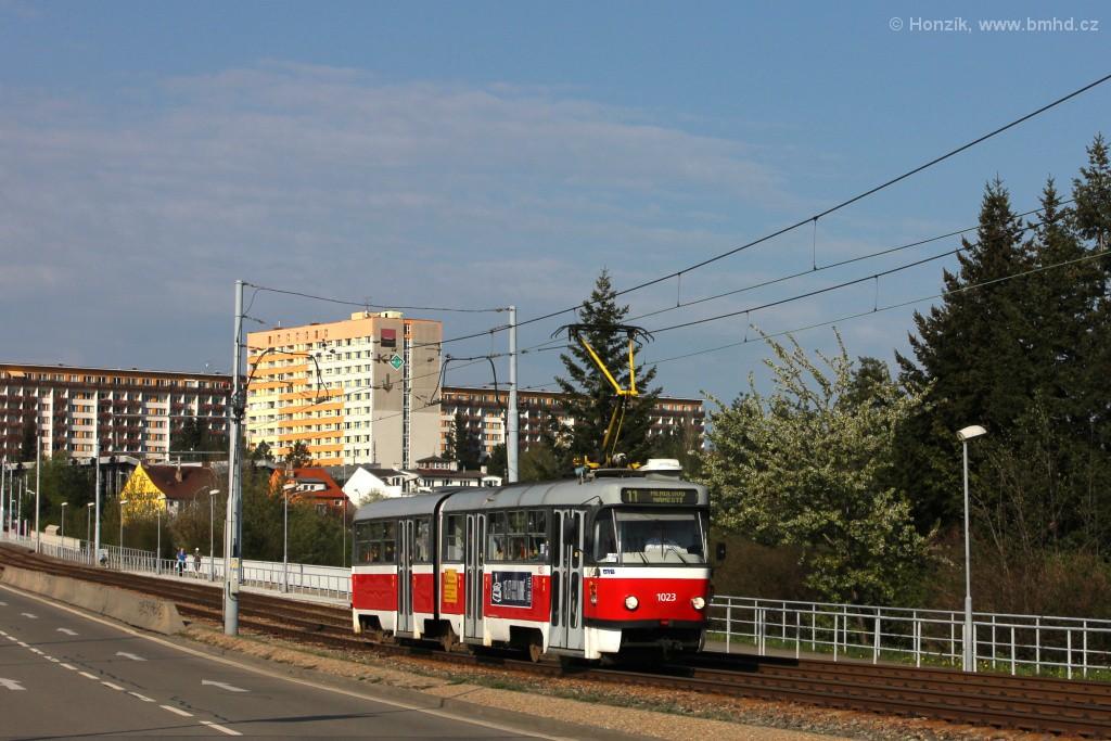 Fotogalerie » ČKD Tatra K2P 1023 | Brno | Černá Pole | třída Generála Píky