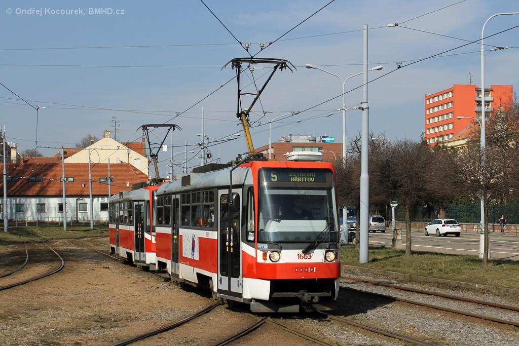 Fotogalerie » ČKD DS T3R 1663   ČKD DS T3R 1664   Brno   Štýřice   Vídeňská