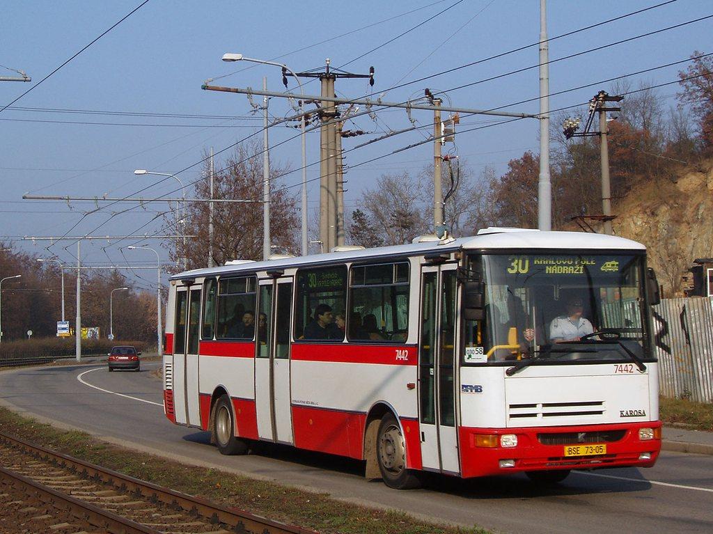 Fotogalerie » Karosa B931.1675 7442   Brno   Komín   Bystrcká