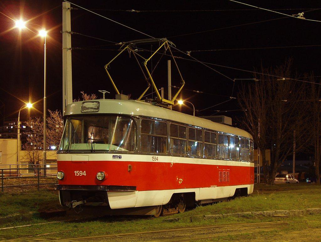 Fotogalerie » ČKD Tatra T3M 1594 | Brno | vozovna Medlánky
