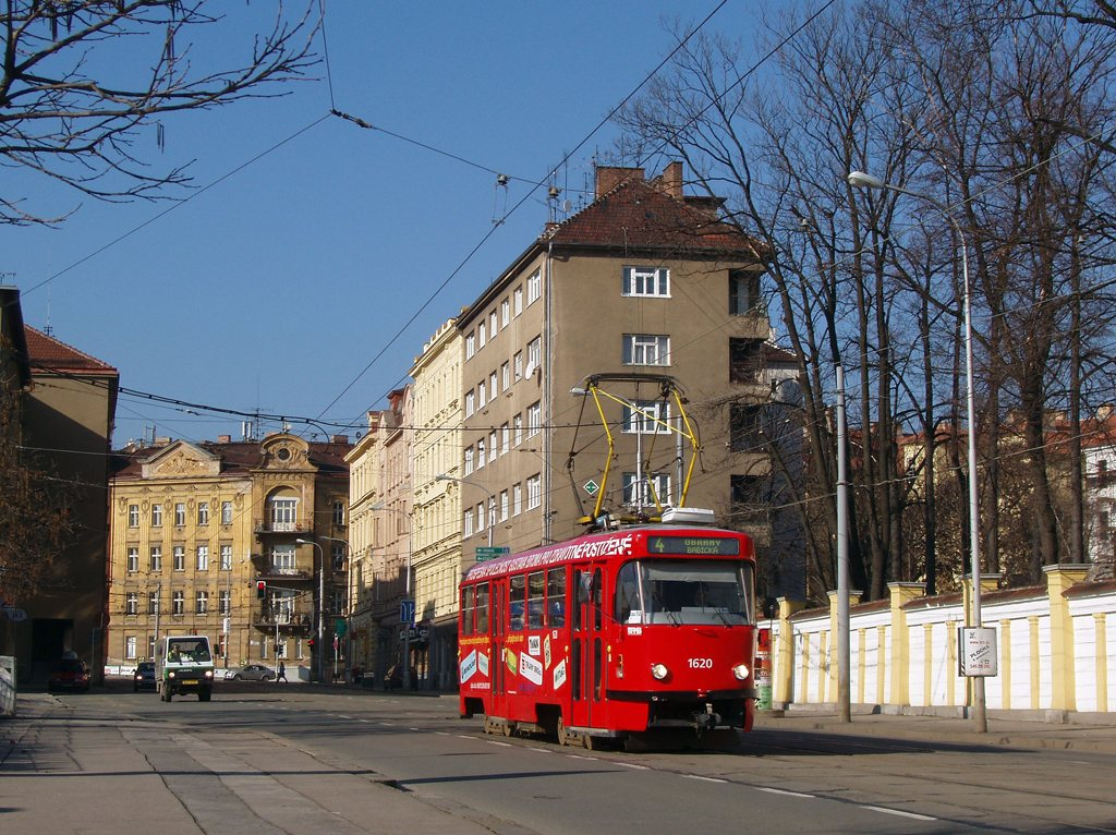 Fotogalerie » ČKD Tatra T3P 1620 | Brno | Veveří | Údolní
