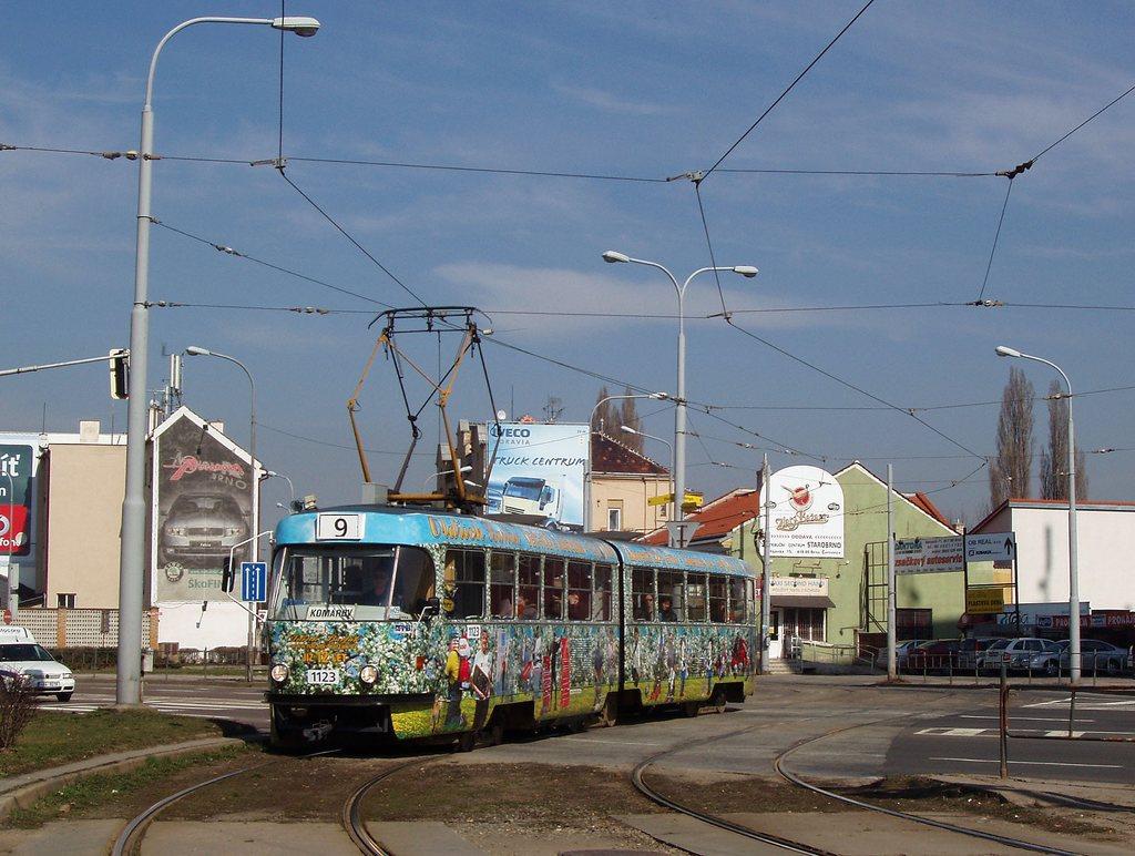 Fotogalerie » ČKD Tatra K2YU 1123 | Brno | Komárov | Svatopetrská