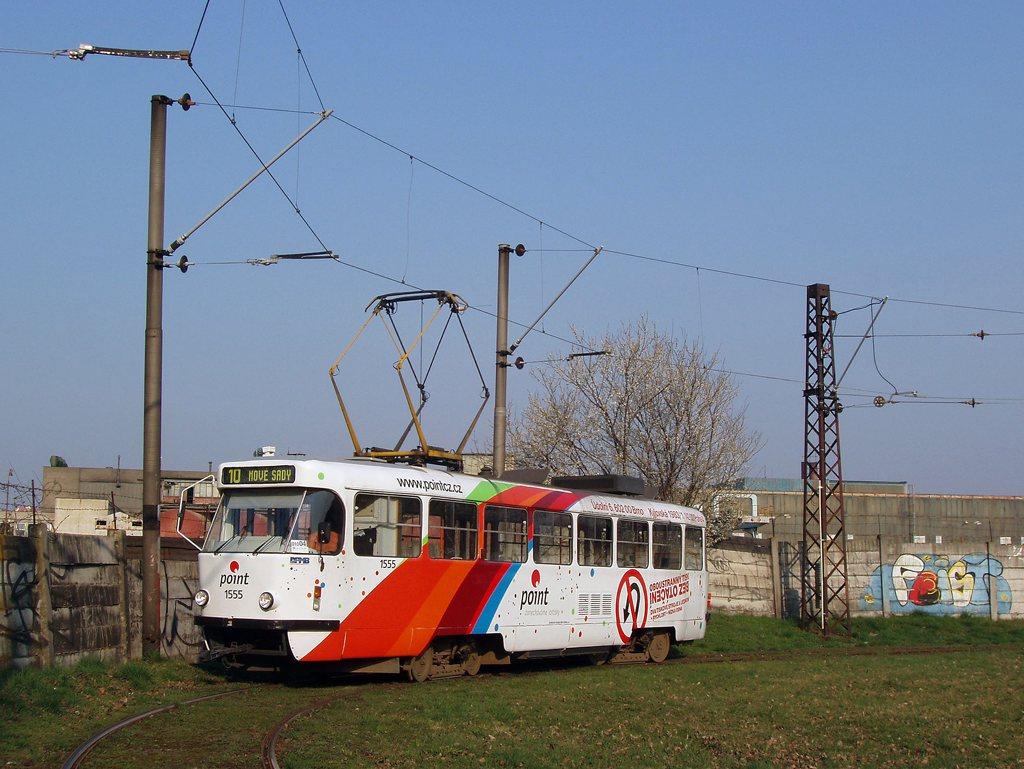 Fotogalerie » ČKD Tatra T3M 1555 | Brno | Stránská Skála | Stránská skála, smyčka
