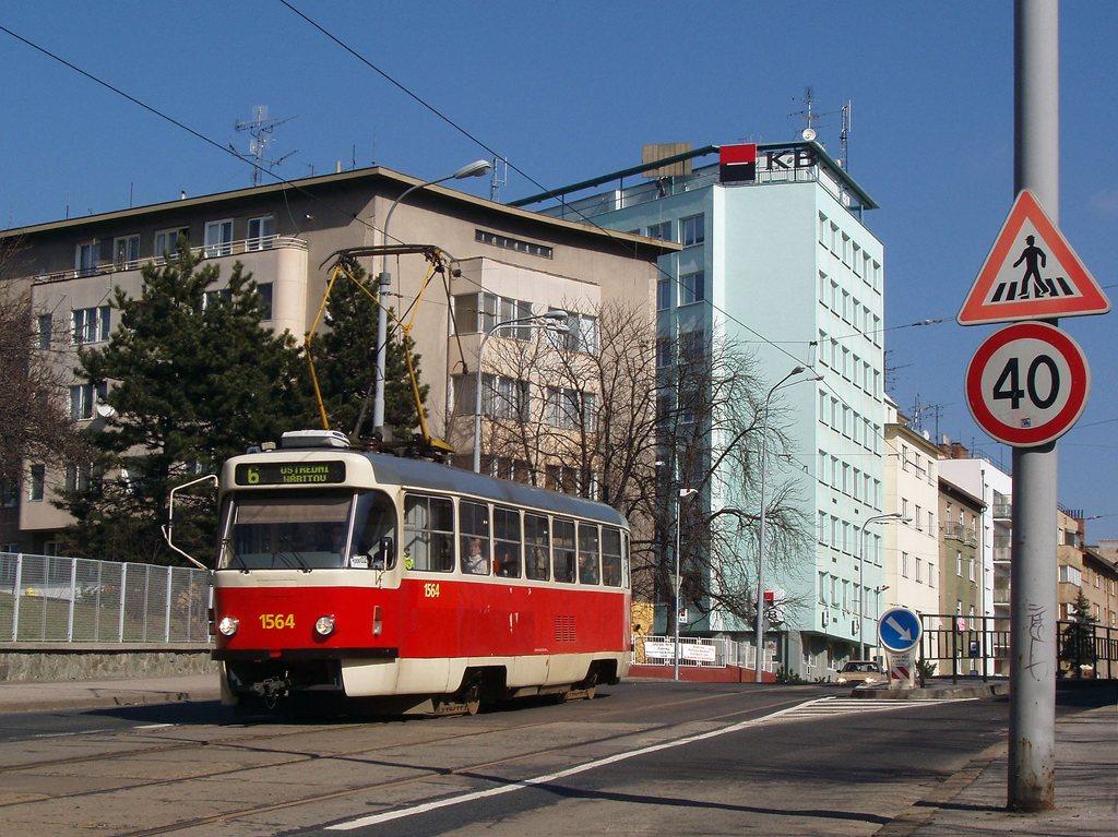 Fotogalerie » ČKD Tatra T3P 1564 | Brno | střed | Milady Horákové