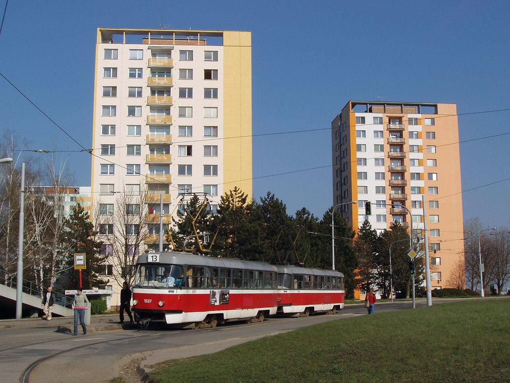 Fotogalerie » ČKD Tatra T3 1537 | ČKD Tatra T3 1548 | Brno | Královo Pole | Purkyňova | Technické muzeum, smyčka