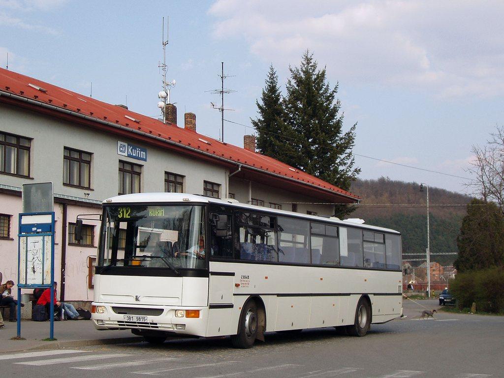 Fotogalerie » Karosa C954E.1360 3B1 9815 | Kuřim | Nádražní | Kuřim, železniční stanice