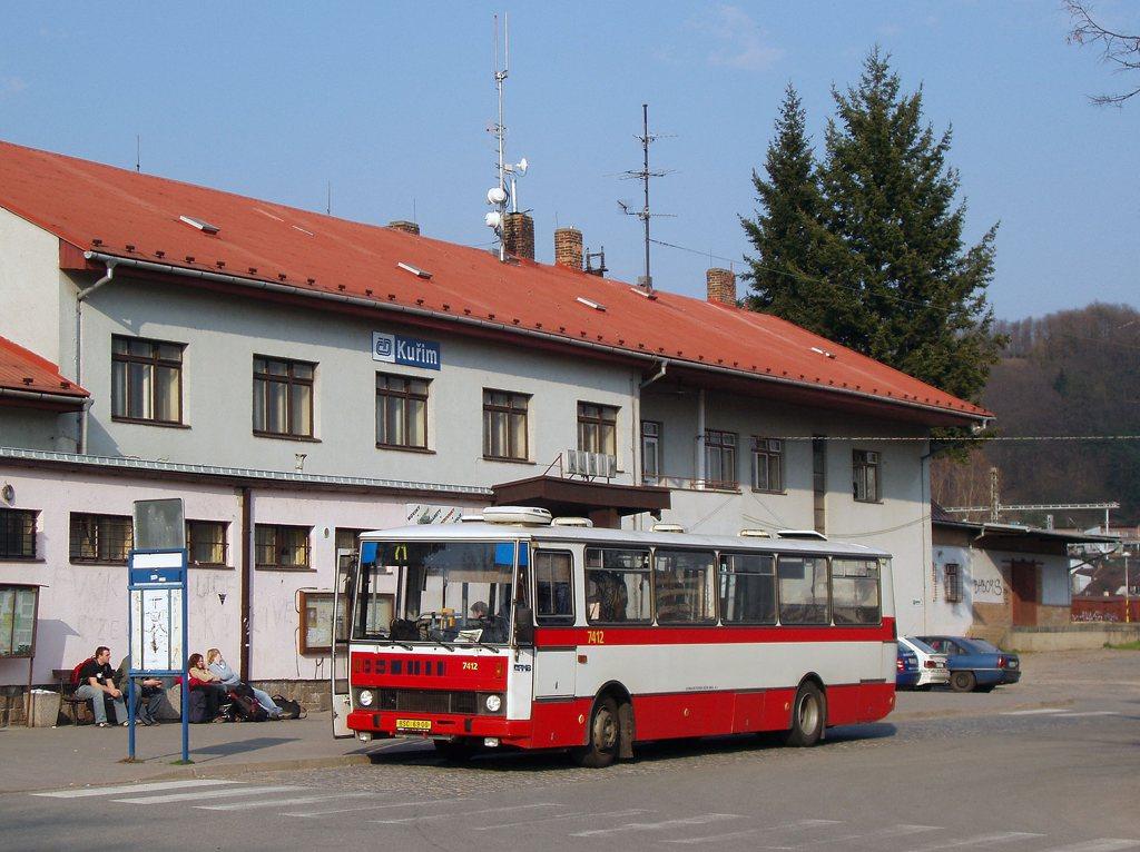 Fotogalerie » Karosa B731.1669 7412 | Kuřim | Nádražní | Kuřim, železniční stanice