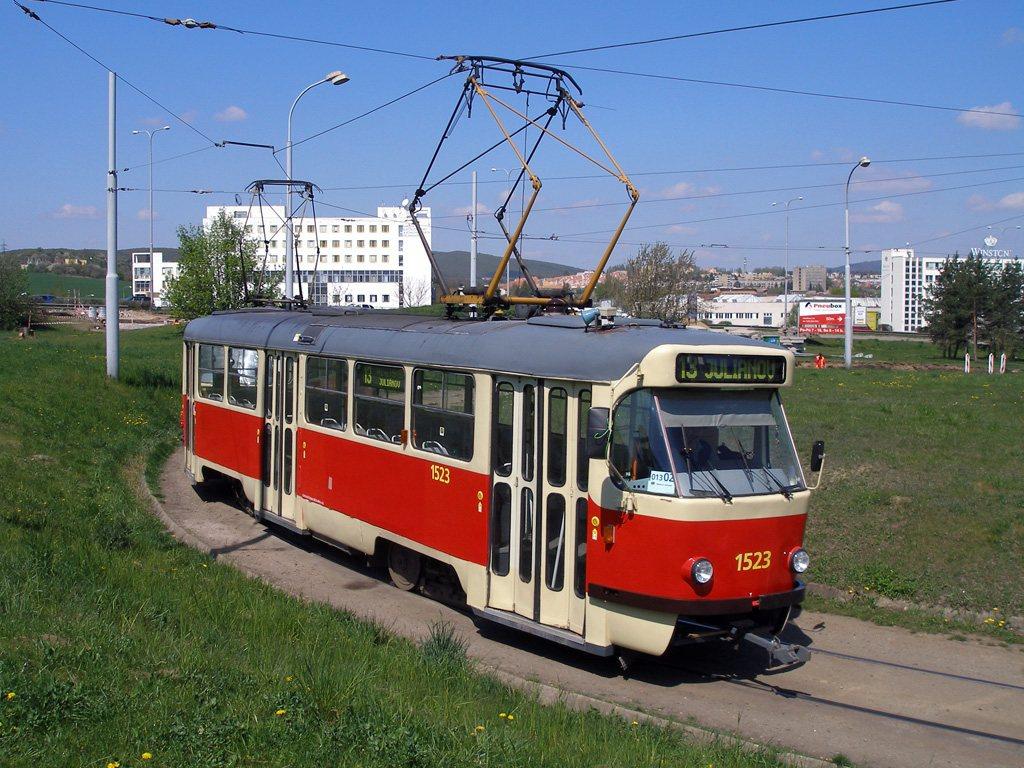 Fotogalerie » ČKD Tatra T3 1523 | Brno | Královo Pole | Purkyňova | Technické muzeum, smyčka